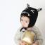 HT512••หมวกเด็ก•• / หมวกไหมพรม-ปีศาจหูตั้ง (สีดำ) thumbnail 1