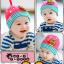 HT193••หมวกเด็ก•• / [สีชมพู] นกฮูก thumbnail 2