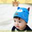 HT421••หมวกเด็ก•• / หมวกบีนนี่-หมียิ้ม (สีฟ้าเข้ม) thumbnail 3