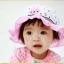 HT488••หมวกเด็ก•• / หมวกปีกกว้าง-Rabbit (สีชมพู) thumbnail 4