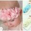ผ้าคาดผมทารกแสนน่ารัก สายดอกไม้ชีฟองเกสรมุกเพชร thumbnail 1