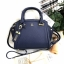 LYN Madison Bag สีน้ำเงิน กระเป๋าถือหรือสะพายทรงสวย รุ่นใหม่ล่าสุด วัสดุหนัง Saffiano thumbnail 9