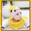 AP143••เซตหมวก+ผ้ากันเปื้อน•• / [สีเหลือง] แพนด้า thumbnail 3