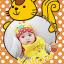 AP135••เซตหมวก+ผ้ากันเปื้อน•• / [สีเหลือง] กระรอก thumbnail 1