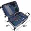 ชุดจัดกระเป๋าเดินทางคุณภาพดีมาก 4 ใบต่อชุด ใส่เสื้อผ้า ชั้นใน ถุงเท้า เข็มขัด (ฺNavy Blue) (Ecosusi 4 Set Packing Cubes Travel Organizers) thumbnail 13