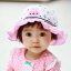 HT488••หมวกเด็ก•• / หมวกปีกกว้าง-Rabbit (สีชมพู) thumbnail 1