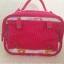 SugarGang กระเป๋าผ้าคอตตอลติดลูกไม้ ไซส์ใหญ่ (พรีเมี่ยม) ขาวแดง thumbnail 5