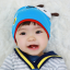 HT444••หมวกเด็ก•• / หมวกบีนนี่-ผีเสื้อ (สีฟ้า) thumbnail 1