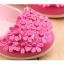 รองเท้าคัทชูเด็กหญิงสีชมพูบานเย็นประดับพุ่มดอกไม้น่ารัก Size 21-25 thumbnail 4