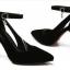 รองเท้าส้นสูงไซส์ใหญ่ 44 ทรงหัวแหลม สีดำ รุ่น KR0474 thumbnail 3