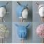 หมวกไพลอท หมวกนักบินมีหูสำหรับเด็ก ลายพื้น ด้านในลายดอกไม้ (มี 2 สี) thumbnail 11