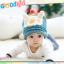 หมวกไหมพรมถักมือ ปลายหมวกแหลม หมวกบีนนี่สำหรับเด็ก ลายกระต่าย (มี 4 สี) thumbnail 3