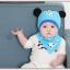 AP207••เซตหมวก+ผ้ากันเปื้อน•• / แพนด้า [สีฟ้า] thumbnail 2