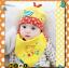 AP135••เซตหมวก+ผ้ากันเปื้อน•• / [สีเหลือง] กระรอก thumbnail 3