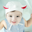 HT171••หมวกเด็ก•• / หมวกนักบิน (สีขาว) thumbnail 1