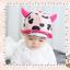 HT321••หมวกเด็ก•• / หมวกแก็ป-ลายวัว (สีชมพูอ่อน) thumbnail 2