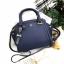 LYN Madison Bag สีน้ำเงิน กระเป๋าถือหรือสะพายทรงสวย รุ่นใหม่ล่าสุด วัสดุหนัง Saffiano thumbnail 7
