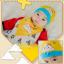 AP184••เซตหมวก+ผ้ากันเปื้อน•• / เมฆ [สีเหลือง] thumbnail 2