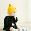 หมวกไหมพรมสำหรับเด็ก หมวกกันหนาวเด็กเล็ก หมวกบีนนี่ สีทูโทน (มี 5 สี) thumbnail 12
