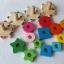 ของเล่นบล็อคไม้ สวมหลักจิ๊กซอว์ เต่าน้อย 4 ตัว เสริมพัฒนาการ thumbnail 9