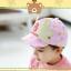 HT367••หมวกเด็ก•• / หมวกแก็ป Bubble (ปีกสีชมพู) thumbnail 3