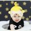HT406••หมวกเด็ก•• / หมวกบีนนี่-หมีมงกุฎ (สีเหลือง) thumbnail 2