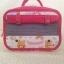 SugarGang กระเป๋าผ้าคอตตอลติดลูกไม้ ไซส์ใหญ่ (พรีเมี่ยม) ขาวแดง thumbnail 4