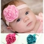 ผ้าคาดผมเด็กเล็ก โบว์ดอกกุหลาบซาติน thumbnail 1