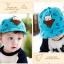 หมวกแก๊ป หมวกเด็กแบบมีปีกด้านหน้า ลายหมีสกรีนสามเหลี่ยม (มี 4 สี) thumbnail 8