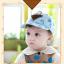 หมวกแก๊ป หมวกเด็กแบบมีปีกด้านหน้า ลายหมีสกรีนสามเหลี่ยม (มี 4 สี) thumbnail 15