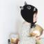 HT512••หมวกเด็ก•• / หมวกไหมพรม-ปีศาจหูตั้ง (สีดำ) thumbnail 4