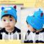 HT421••หมวกเด็ก•• / หมวกบีนนี่-หมียิ้ม (สีฟ้าเข้ม) thumbnail 4