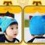 HT421••หมวกเด็ก•• / หมวกบีนนี่-หมียิ้ม (สีฟ้าเข้ม) thumbnail 2