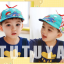 HT520••หมวกเด็ก•• / หมวกเบเร่ต์-ลิงขับเครื่องบิน [สีฟ้า] thumbnail 4
