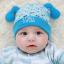 HT425••หมวกเด็ก•• / หมวกบีนนี่-สุนัข (สีฟ้า) thumbnail 1