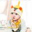 เซตหมวก+ผ้าซับน้ำลาย / ลายหนู (มี 4 สี) thumbnail 6