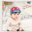 HT391••หมวกเด็ก•• / หมวกแก็ป LOVE CAT (สีแดง) thumbnail 1