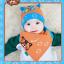 AP149••เซตหมวก+ผ้ากันเปื้อน•• / [สีส้ม] แมวเหมียว+ปลา thumbnail 5