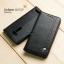 เคส Zenfone GO 5.5 นิ้ว (ZB552KL) เคสฝาพับเกรดพรีเมี่ยม ลายหนัง พร้อมช่องใส่บัตรด้านใน (พับเป็นขาตั้งได้) สีดำ (หมุดเหล็ก) thumbnail 1