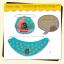 AP078••เซตหมวก+ผ้ากันเปื้อน•• / [สีเหลือง] Bear thumbnail 5