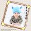 HT399••หมวกเด็ก•• / หมวกบีนนี่-เลขคู่ (สีฟ้า) thumbnail 2