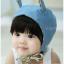 หมวกไพลอท หมวกนักบินมีหูสำหรับเด็ก ลายพื้น ด้านในลายดอกไม้ (มี 2 สี) thumbnail 2