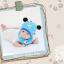 AP207••เซตหมวก+ผ้ากันเปื้อน•• / แพนด้า [สีฟ้า] thumbnail 3