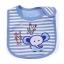 ผ้ากันเปื้อน Lastest Kids ลายริ้วสีฟ้า ปักรูปช้างหมีกระต่าย thumbnail 1