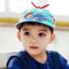 HT520••หมวกเด็ก•• / หมวกเบเร่ต์-ลิงขับเครื่องบิน [สีฟ้า] thumbnail 1