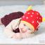 HT398••หมวกเด็ก•• / หมวกบีนนี่-เลขคู่ (สีแดง) thumbnail 2