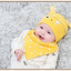 AP222••เซตหมวก+ผ้ากันเปื้อน•• / นกฮูก [สีเหลือง] thumbnail 1