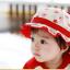HT479••หมวกเด็ก•• / หมวกปีกกว้าง-กระต่าย (สีแดง) thumbnail 4