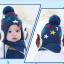 หมวกไหมพรมสำหรับเด็ก หมวกกันหนาวเด็กเล็ก ลายดวงดาวติดปีก (ไม่มีผ้าพันคอ) [มี 5 สี] thumbnail 9