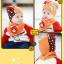 AP105••เซตหมวก+ผ้ากันเปื้อน•• / [สีส้ม] น้องหมี thumbnail 2